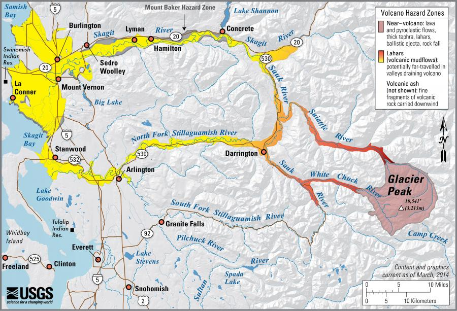 SKAGIT COUNTY DEPARTMENT OF EMERGENCY MANAGEMENT - Map active volcanos in us