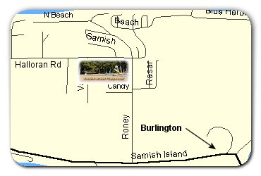 Samish Island Playground Location Map