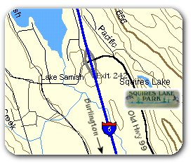 Squires Lake Location Map