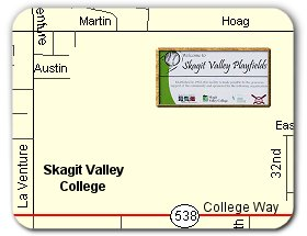 Skagit Valley Playfields Location Map
